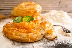 Bakery background – cheese pie Royalty Free Stock Photography