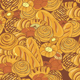 Bakery background. Bread and bakery seamless pattern detail Royalty Free Stock Photography