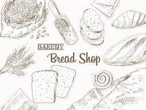 Bakery background Stock Image