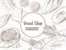 Bakery background Royalty Free Stock Photography