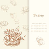 Bakery background 1 Royalty Free Stock Images