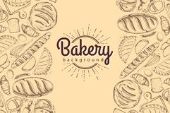 Bakery background. Top view of bakery products. Food background Royalty Free Stock Images
