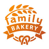 Bakery badge and logo icon Stock Image