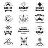 Bakery badges and logo icons thin modern style vector collection set royalty free illustration