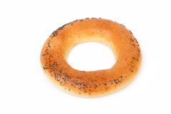 Bakery bagel isolated on white Royalty Free Stock Photos