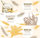 Bakery Banner Horizontal Hand Draw Sketch. Vector. Bakery Banner Horizontal Hand Draw Sketch. Food Vintage Style. Vector illustration vector illustration