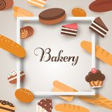 Bakery banners. Baking, bread and cakes. Vector flat.  Royalty Free Stock Photos
