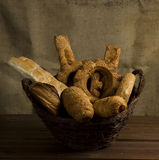 Bakery in a basket Royalty Free Stock Photos