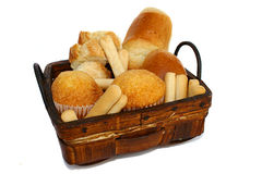 Bakery basket Royalty Free Stock Images
