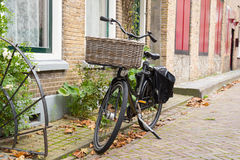 Bakery bike in Holland Royalty Free Stock Photography