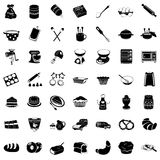 Bakery black icons. Vector illustration of basic bakery black icons royalty free illustration