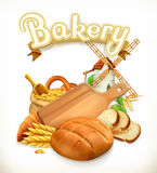Bakery, Bread. 3d vector. Logo Royalty Free Stock Images