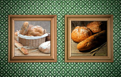 Bakery bread frames Stock Photography