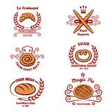 Bakery bread logos Royalty Free Stock Photos