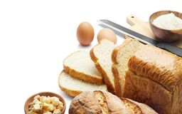 Bakery - Bread and others ingredient royalty free stock images