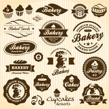 Bakery Bread Pastry badges and labels Stock Photography