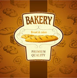 Bakery bread. seamless background pattern. Labels pack for bread royalty free illustration