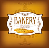 Bakery bread.  seamless background pattern. Labels pack for bread Stock Image