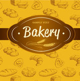 Bakery bread.  seamless background pattern. Labels pack for bread Royalty Free Stock Image