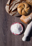Bakery Bread and Sheaf Royalty Free Stock Photography