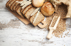 Bakery bread. Various Bread and Sheaf of Wheat Ears