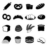 Bakery and bread vector icons set Royalty Free Stock Images