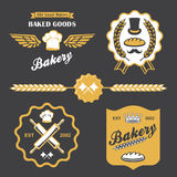 Bakery bread vintage retro badges labels logo Royalty Free Stock Photos