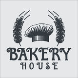 Bakery bread vintage retro badges labels Royalty Free Stock Photography