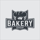 Bakery bread vintage retro badges labels Stock Image