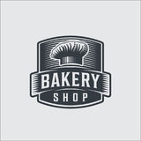 Bakery bread vintage retro badges labels Royalty Free Stock Image