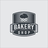 Bakery bread vintage retro badges labels royalty free illustration