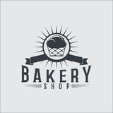 Bakery bread vintage retro badges labels Royalty Free Stock Images