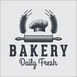 Bakery bread vintage retro badges labels Stock Photos