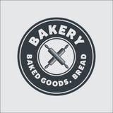 Bakery bread vintage retro badges labels Stock Images