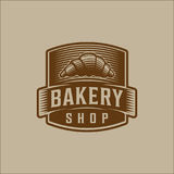 Bakery bread vintage retro badges labels Royalty Free Stock Photos