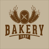 Bakery bread vintage retro badges labels Stock Photography