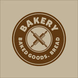 Bakery bread vintage retro badges labels Royalty Free Stock Photo