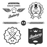 Bakery bread vintage retro badges labels set. Bakery bread vintage retro badges labels logo stock illustration