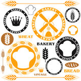 Bakery. Bread. Wheat. Isolated objects on white background. Vector illustration (EPS 10 royalty free illustration