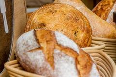 Bakery Bread on a Wooden Table Stock Photos