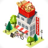Bakery Building Tint Icon Isometric Royalty Free Stock Photography