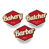 Bakery, Butcher, Barber label or badge Royalty Free Stock Images