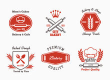 Bakery cafe bistro logo set Stock Image