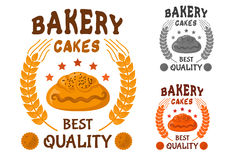 Bakery cakes icon with sweet bun Royalty Free Stock Photography
