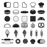 Bakery cakes icons. Vector illustration. Stock Photos