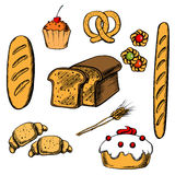 Bakery, cakes and pastry objects Royalty Free Stock Photography