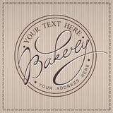 Bakery Calligraphic Label. Bakery beige handwritten calligraphic label Royalty Free Stock Image