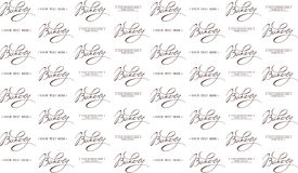 Bakery Calligraphic seamless pattern Royalty Free Stock Image