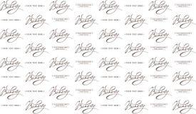 Bakery Calligraphic seamless pattern. Bakery Calligraphic handwritten seamless pattern Royalty Free Stock Image