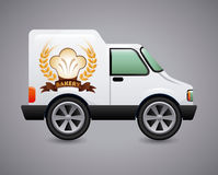 Bakery car design Royalty Free Stock Images